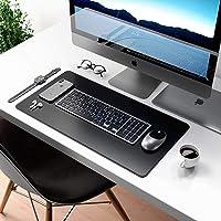 Mouse Pad Desk Pad Max em Couro Ecologico 70x30cm - WORKPAD (Preto)