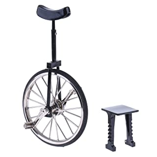 Dolity 1:10 Unicycle Bike Diecast Bicycle Model Toy Kids Children Birthday Gifts