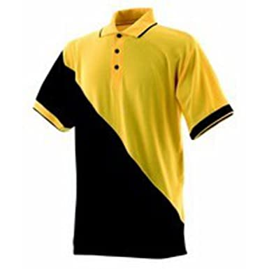Finden & Hales LV325 Team Pique Polo Shirt gelb/schwarz Größe XL