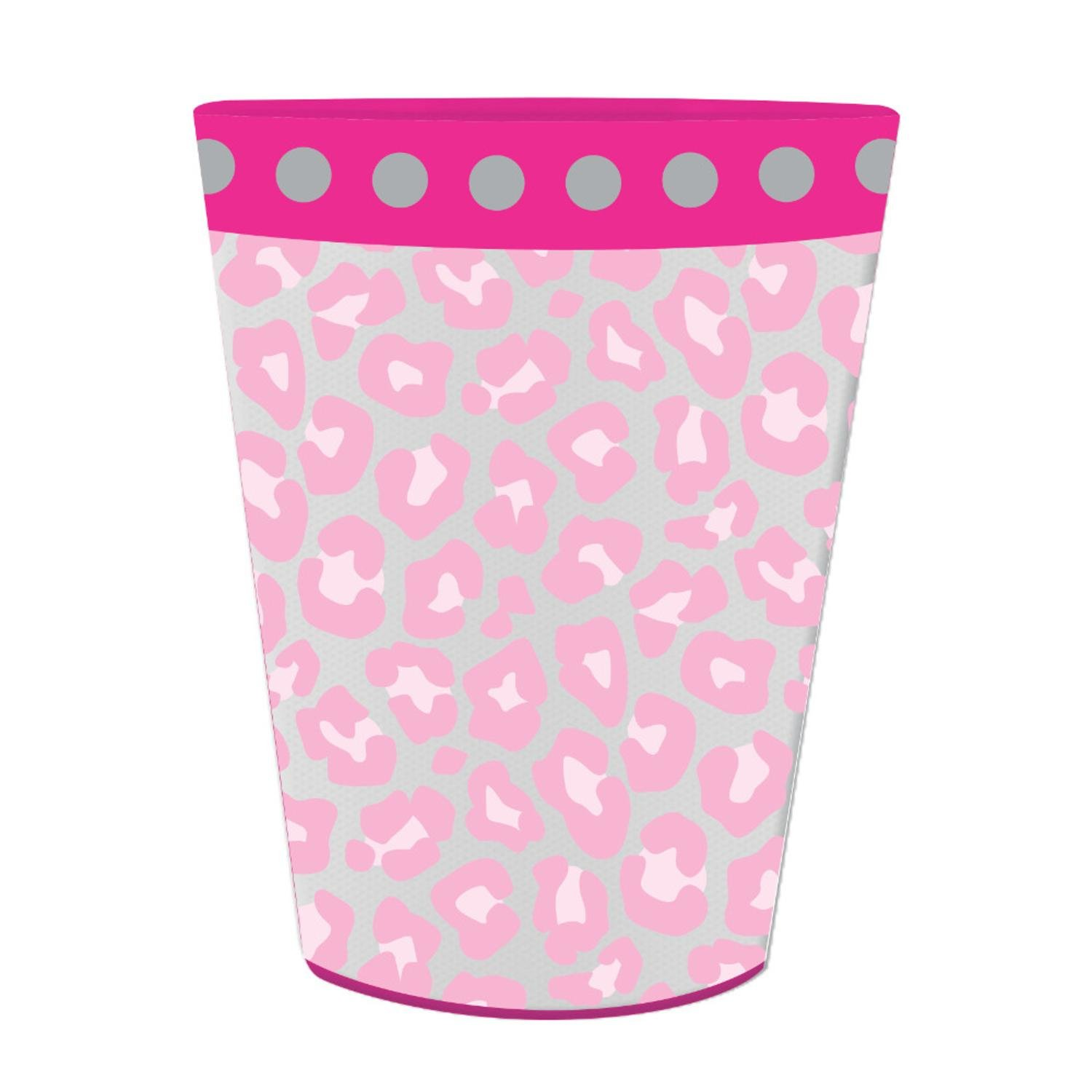Club Pack of 12 Sparkle Spa Party! Plastic Birthday Keepsake Cups 16oz.