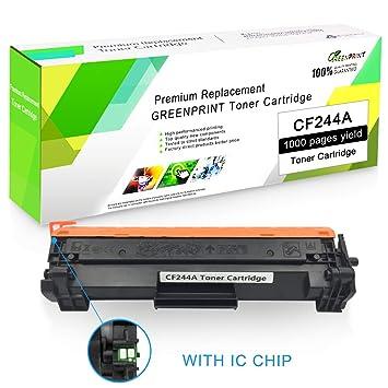 Cartucho de Tóner Compatible CF244A 44A (2 Negro) con Chip ...