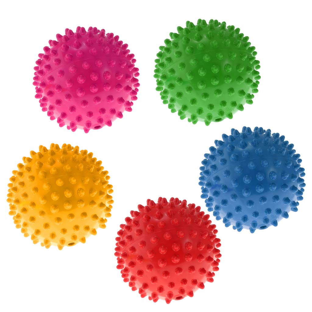 Blau D DOLITY 4 Zoll PVC Kinder Ball Noppenball Massageball Noppenball Spielzeug F/ür Yoga oder Massage