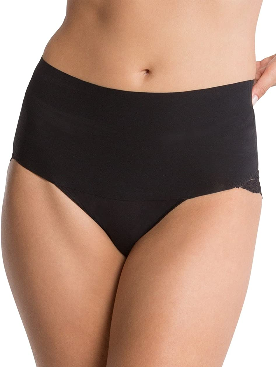 Spanx Undie-Tectable Womens Nylon Cheeky Panty for Light Waist Tummy /& Bottom Control with Cotton Gusset /& No-Show Lace SP0415