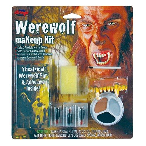 Fun World Women's Werewolf Horror Character Kit, Multi, -