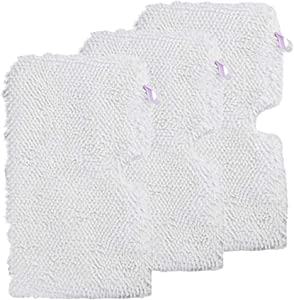 Xindejia 3 Pack Washable Microfiber Mop Replacement Pads Cleaning Pads Fits Shark Steam Pocket Mops S3500 Series,S2901,S2902,S3455,S3501,S3550,S3601,S3801,S3901,S4601,S4701,SE450