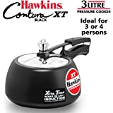 Hawkins Pressure Cooker Contura Hard Anodized Extra Thick Base for Induction, 3L (Black)