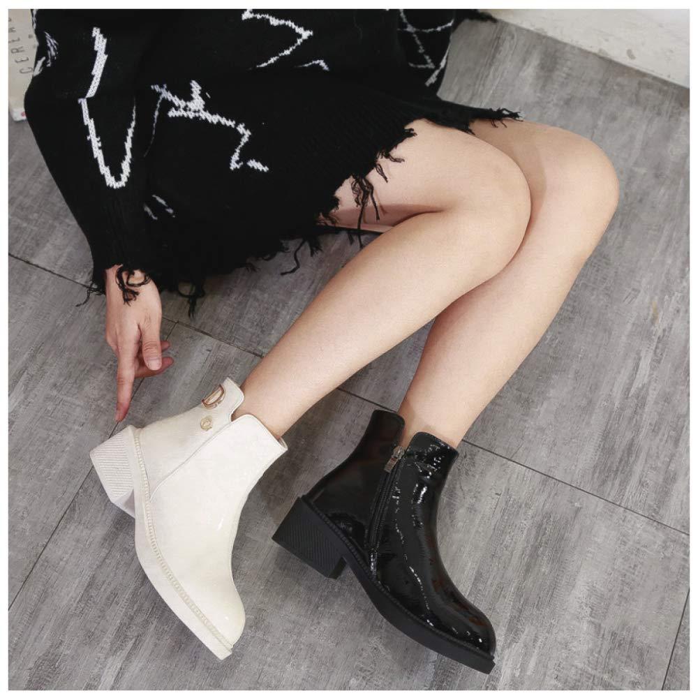 RegbKing Erwachsene Chelsea Stiefel Stiefel Stiefel Damen Stiefel Wasserdicht Kurz Stiefeletten Schuhe Worker Stiefel a46153