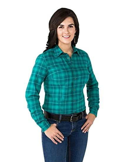 966fe86d10 Amazon.com  Noble Outfitters Ladies Downtown Flannel Shirt M  Clothing
