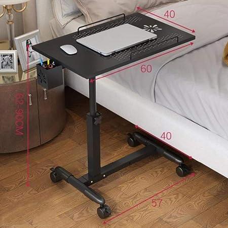HJBH Bureau avec roulette Table mobile à pliante maison la ZNnOX80kwP