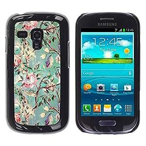 Paccase / SLIM PC / Aliminium Casa Carcasa Funda Case Cover para - Branch Garden Blossoms Painting Art - Samsung Galaxy S3 MINI NOT REGULAR! I8190 I8190N