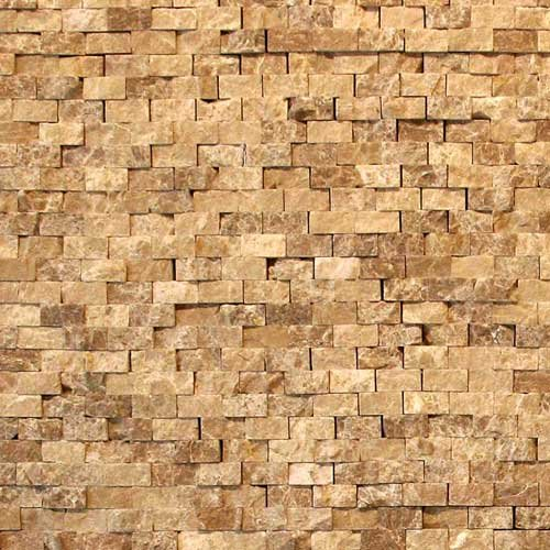 12' Natural Stone - Solistone Modern Dada 12 x 12 Inch Marble Natural Stone Mosaic Wall Kitchen Tile (10 Sq. Ft./Case)