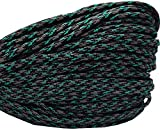 550 Paracord / Parachute Cord, 100 Metters(328 feet), 800 lb Tensile Strength, Type III Paracord, 7 100% Nylon Core Strands Each Twisted from 3 Individual Strands, 5/32''(4mm) Diameter Aurora Sky