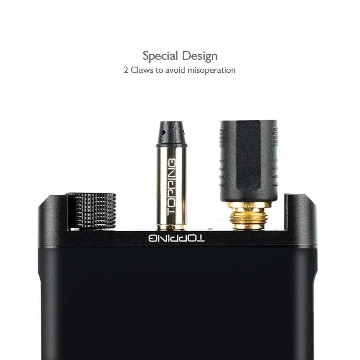 FiiO Fujiyama E06 tragbarer Kopfh/örer Verst/ärker 3.5 mm Stereo Jack, Schwarz