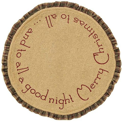 1-X-Burlap-Santa-Tablemat-Ruffled-Merry-Christmas-Set-of-2-13