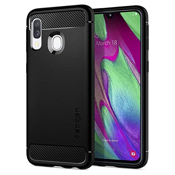 Spigen Rugged Armor Designed for Samsung Galaxy A40 Case (2019) - Matte Black
