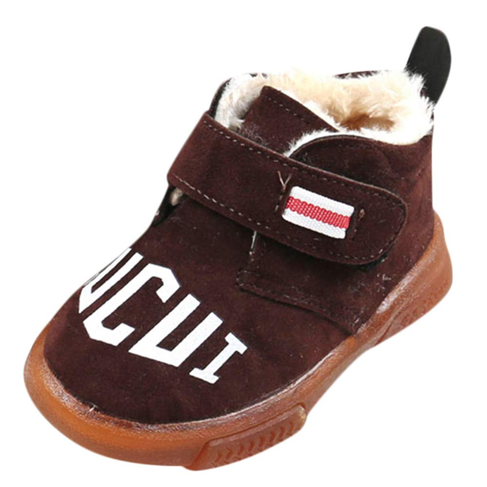Toddler//Little Kid//Big Kid Lurryly❤Girls Boys Casual Warm Mid Martin Boots Snow Boots Shoes
