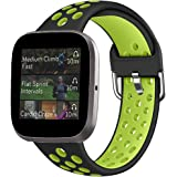 Rubber Band Replacement Strap Compatible with Versa 2 Fitbit Smart Watch, Slim Breathable Sweat-Resistant Sport Silicone Band