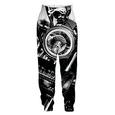 Hilegdr.P Impreso en 3D Cool Motorcycle Casual Pantalones Largos ...