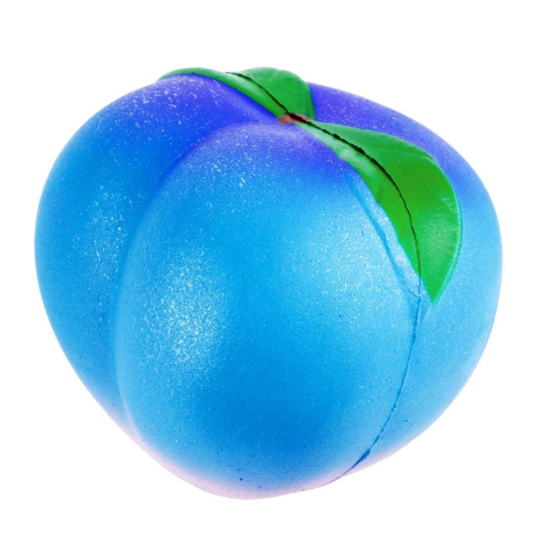 Drfoytg Clearance,Squishy Kawaii Squeeze Peach Stress Reliever Fruit Cream Scented Decompression Toy Slow Rising Galaxy (D)