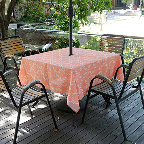 Orange Elegance Square Tablecloth (Fanjow Zippered Umbrella Tablecloth 60