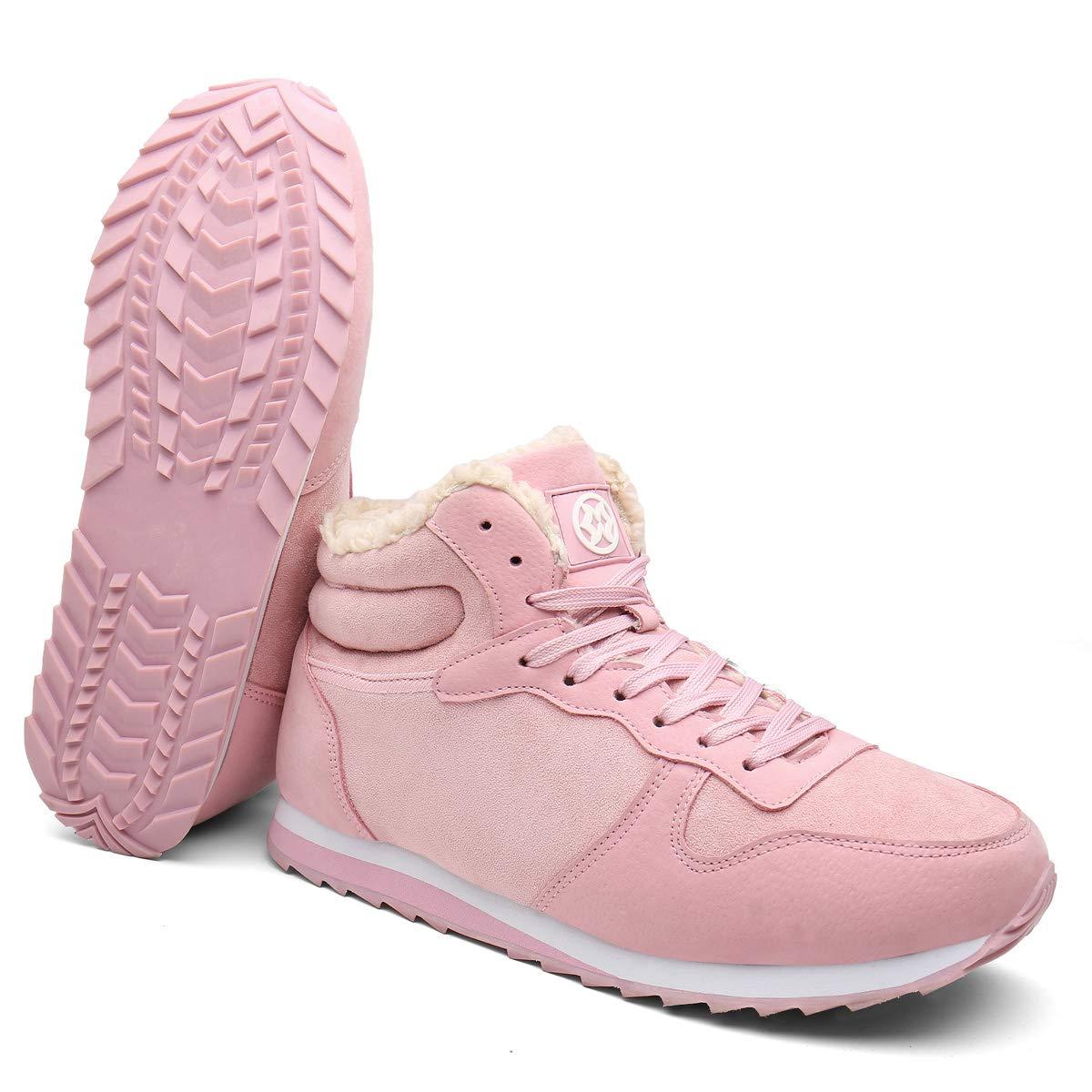 Bottes de Neige Hommes Chaussures Les Femmes Bottes dhiver Randonnee Chaudes Fourrure Sneakers Poids l/éger Baskets Booties Outdoors des Chaussures dhiver Adulte Taille