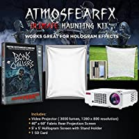 Amosfearfx Bone Chillers Video Ultimate Projector Bundle.Includes Projector, Dvd, Translucent Window Screen And Hologram Screen Stand Kit. Plus 3000 Lumen Projector With 1280 x 800 Resolution