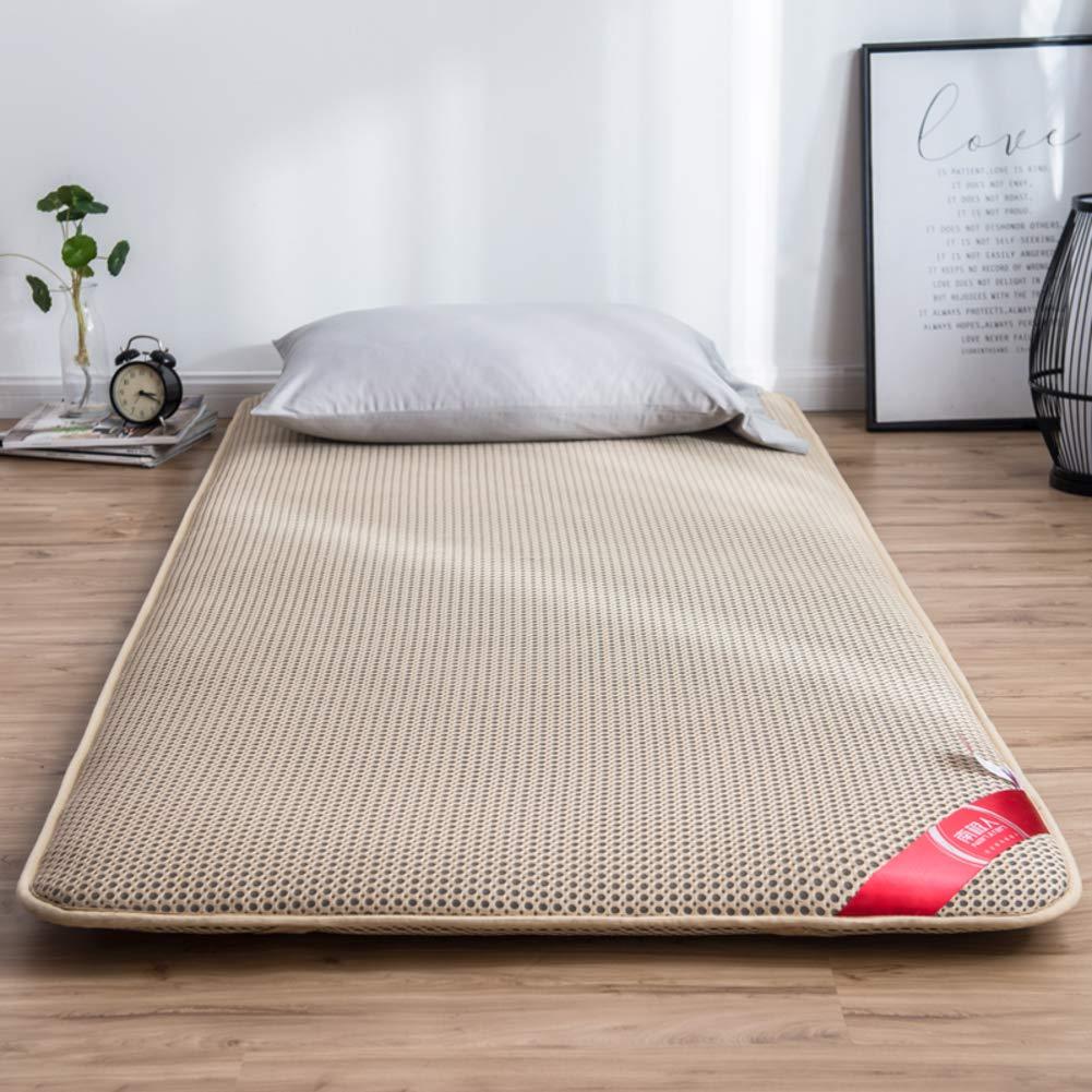 A 150x200cm(59x79inch) Breathable Tatami Mattress Mat, Futon Floor Mat Mattress Topper Foldable Sleeping Pad Non-Slip Student Dorm Cushion Mats -a 150x200cm(59x79inch)