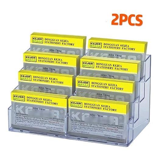 Tarjetero para tarjetas de visita acr/ílico, 2 unidades Vigorous