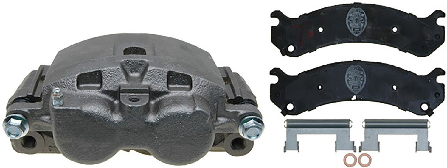 ACDelco 18R1380SV Specialty Front Disc Brake Caliper Assembly with Performance Fleet/Police Pads (Loaded), Remanufactured