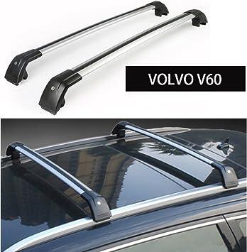 Silver Roof Rack Crossbar for VOLVO XC60 XC 2013-2017 Baggage Luggage Rail Cross Bar