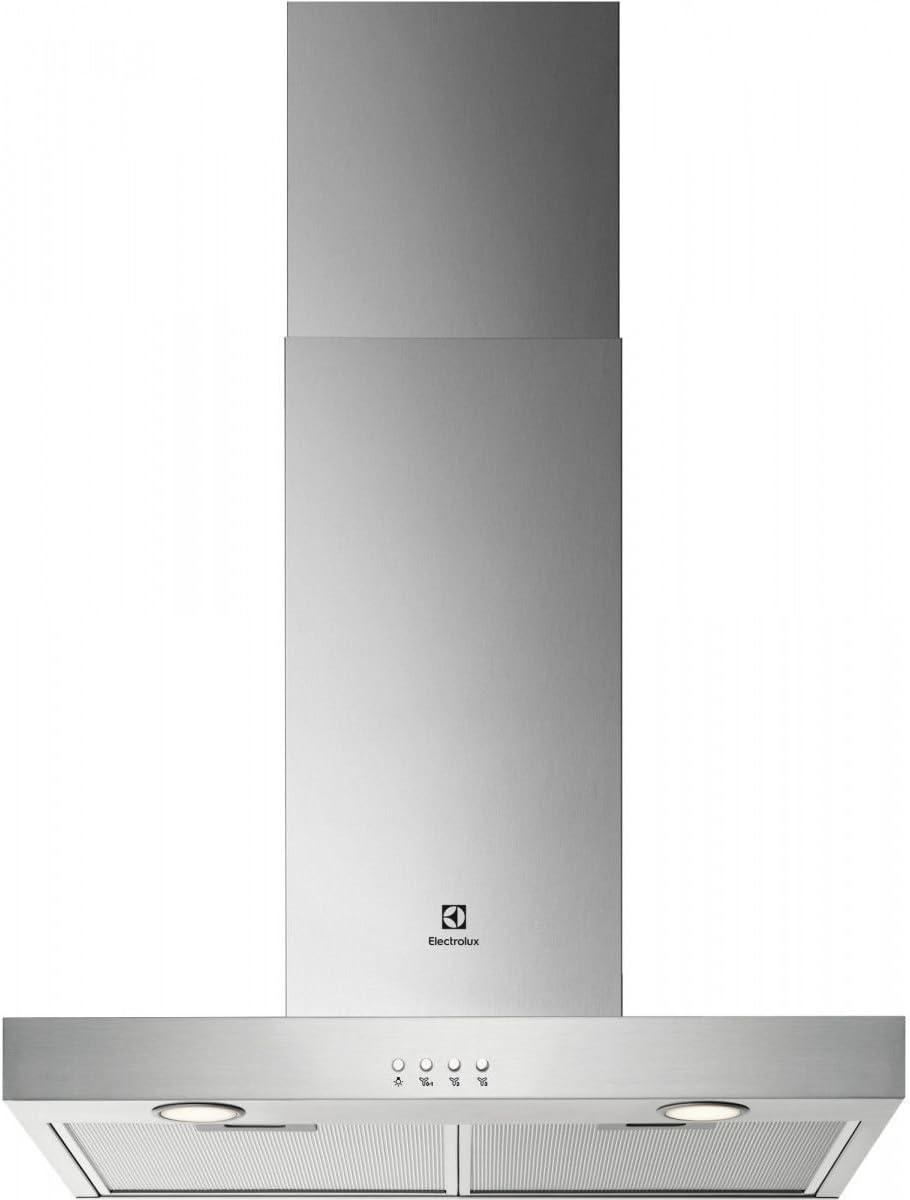 600 m/³//h, Conduit//Recirculation, D, A, C, 68 dB Electrolux LFT416X Mont/é au mur Acier inoxydable 600m/³//h C hotte Hottes