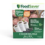 "FoodSaver 8"" Roll with unique multi layer construction, BPA free, 3pk"