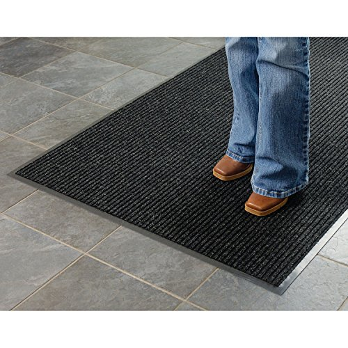 Apache Mills Deep Cleaning Ribbed Entrance Mat, Charcoal, 36 x 48