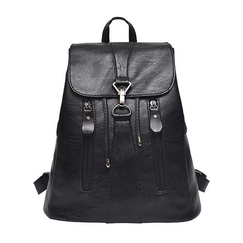Amazon.com: Woman Leather Backpack Female Mochila Large Capacity School Bag Rucksack by-NEWONESUN: Shoes