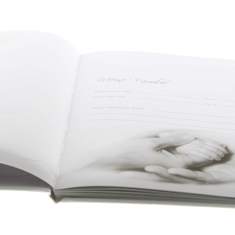 21 x 28 cm, 44 p/áginas ilustradas Diario de beb/é Goldbuch 11237 Little Mobile Color Beige