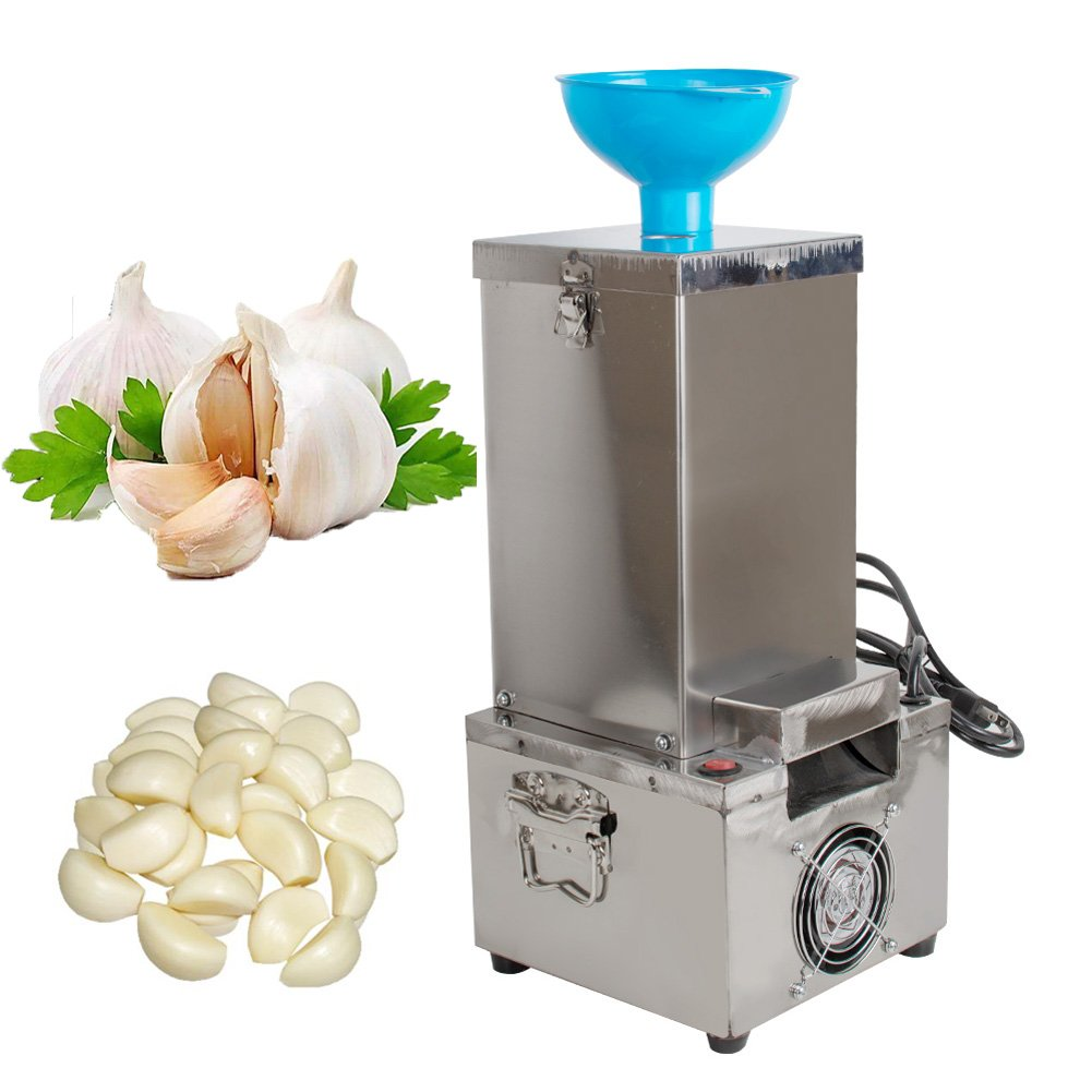 Garlic Peeling Machine, Electric Stainless Steel Garlic Peeler 180W 20KG/h for Commercial Household 110V (USA Ship, 3-5 Days Delivery)