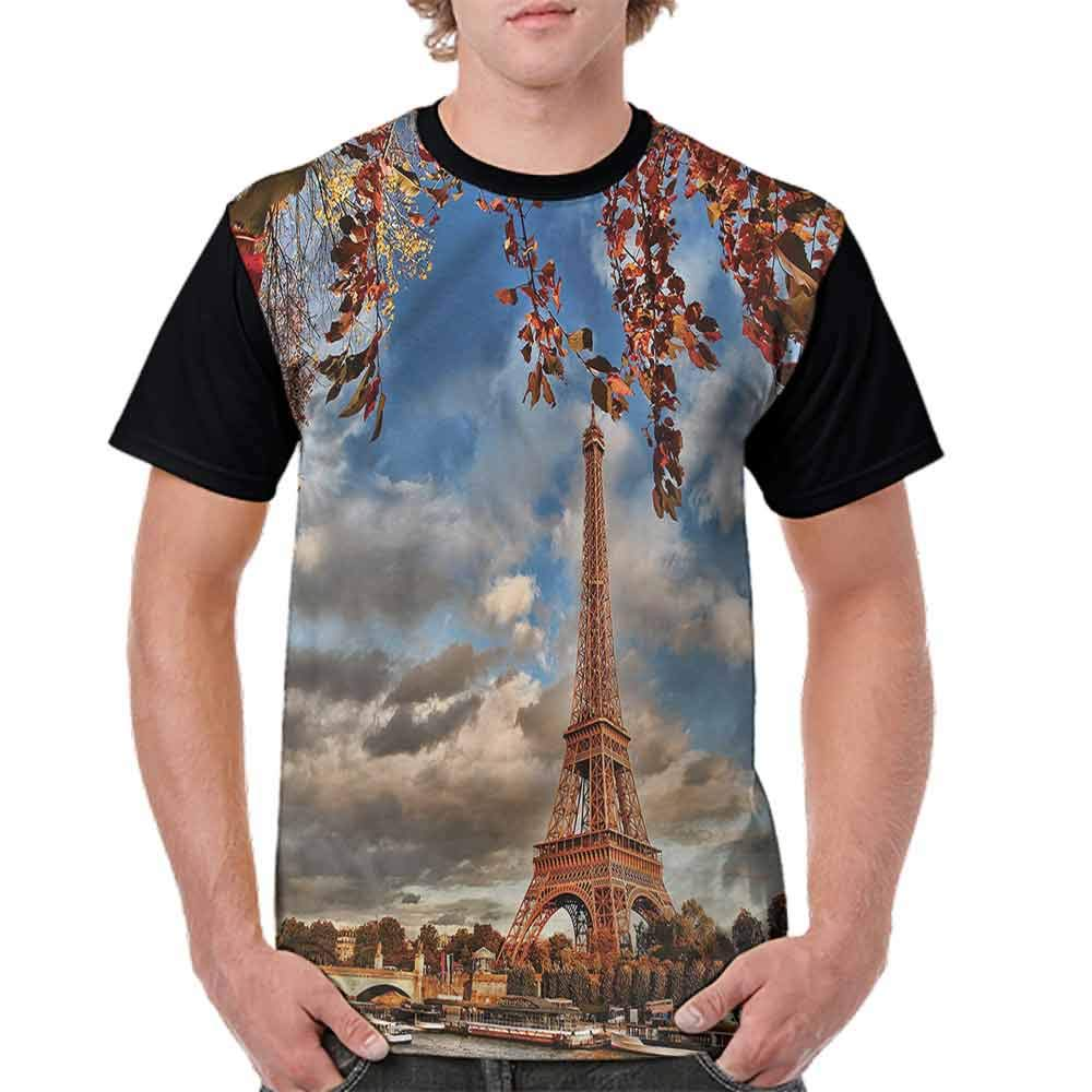 Trend t-Shirt,Arc de Triomphe Sunny Fashion Personality Customization