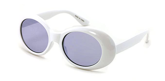 Amazon.com: V.W.E. White Vintage Sunglasses UV400 Bold Retro Oval ...