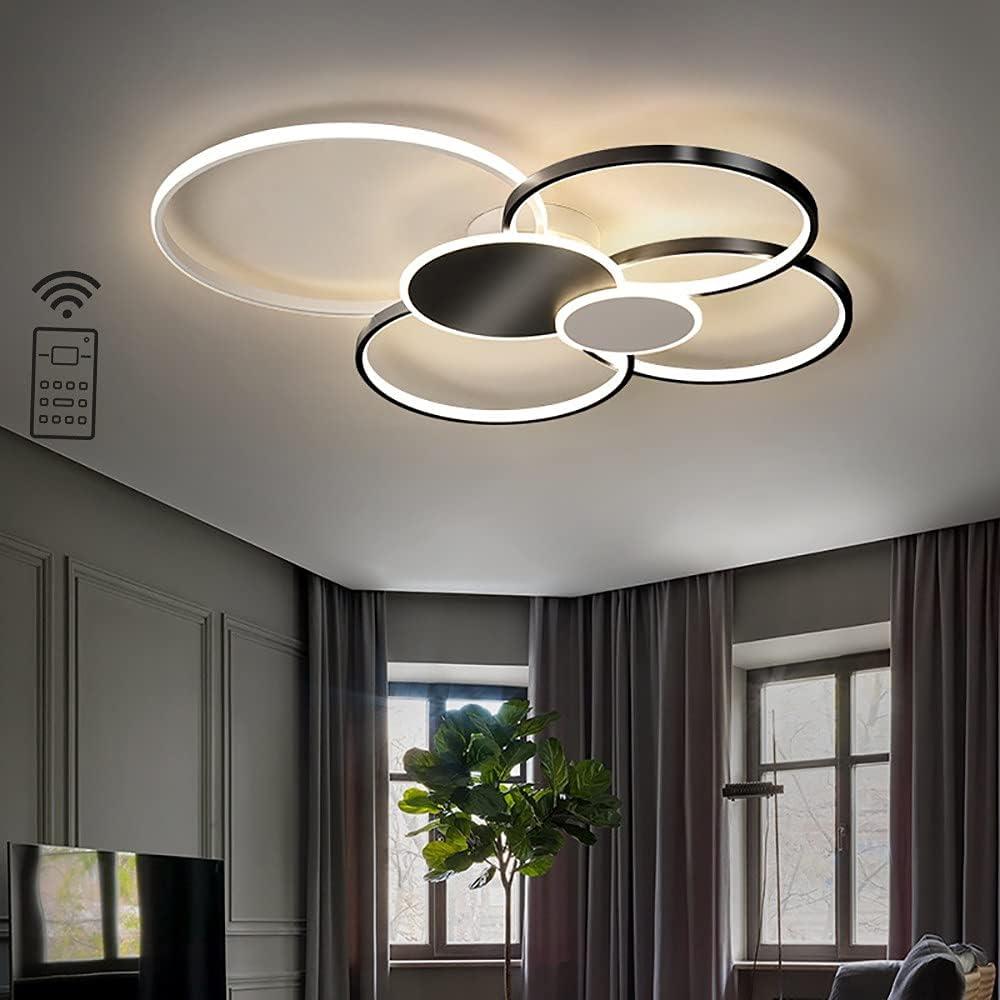 DODOBD Lámpara de Techo LED, Regulable con Control Remoto 3000K - 6000K, Luces de Techo de la Sala de Estar, Pasillo, Dormitorio, Aluminio lámpara del Techo[Clase energética A ++]