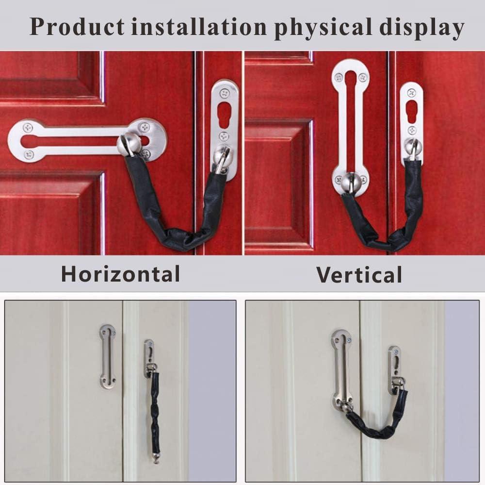 Cadena para puerta YMWALK cadena de seguridad para puerta delantera de acero inoxidable pestillos de seguridad para puertas de servicio pesado con tornillos para todo tipo de puertas internas