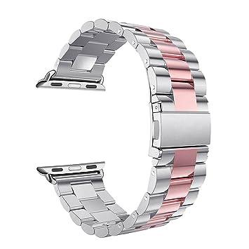 Correa para Apple Watch 38mm Correas iWatch Correa Acero para Apple Watch Series 2 Series 1 Banda Pulsera iWatch Reemplazo de Reloj Bracelet Series 3 ...