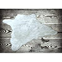 Fur Accents Faux Bear Skin Rug Faux Fur (4x5, Polar Bright White)