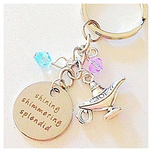Shining Shimmering Splendid Aladdin and Jasmine-Inspired Keychain Gift of Magical True Love