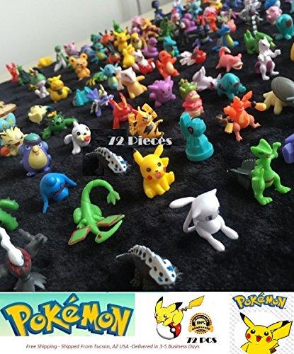 Pokemon Mini Action Figures 72 Pcs Set Pokemon Monster Toys Set by - Figurines Pokemon