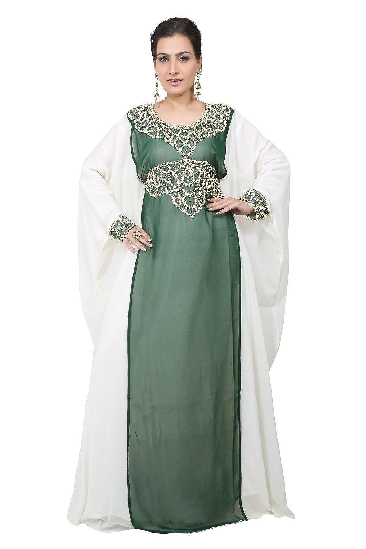 Bedi'S Uae Style Women'S Farasha Maxi Arabisches Islamisches Kaftan Langes Kleid - Eine Grösse (Kaf-2611)