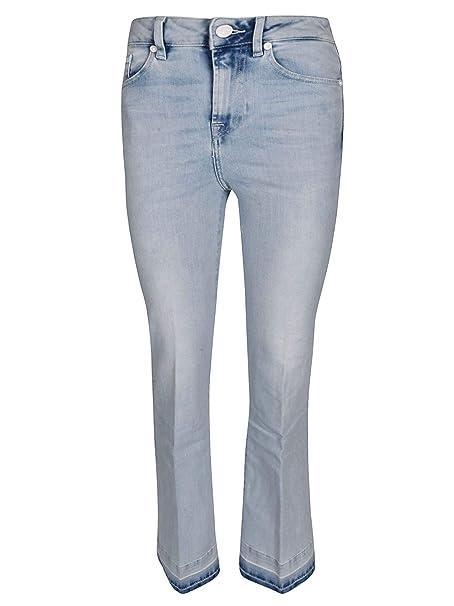 fe171eab1 7 For All Mankind Mujer Jse1r78cor Azul Claro Algodon Jeans: Amazon ...