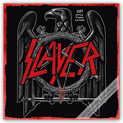 Slayer 2019 12 x 12 Inch Monthly Square Wall Calendar, Music Thrash Metal Celebrity