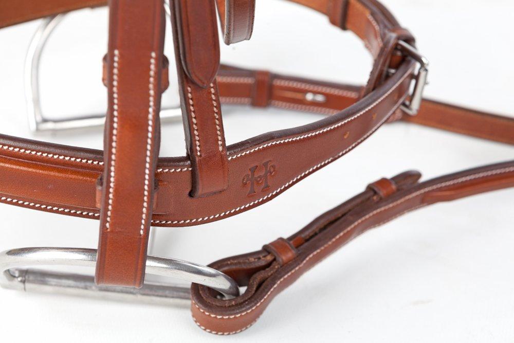 Huntley Equestrian Sedgwick Leather English Bridle Cheek Pieces (Cob)