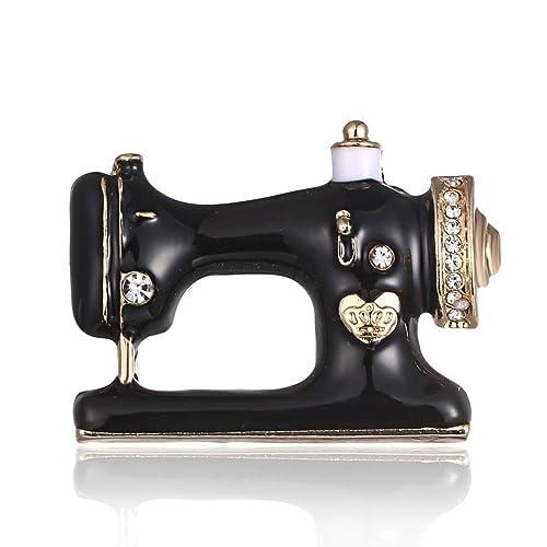 Sanzhileg Máquina de Coser Vestido Clip Exquisito Chica Pernos de la Bufanda Moda Broche Pin Simple Señoras Joyería llamativa - Negro: Amazon.es: Joyería