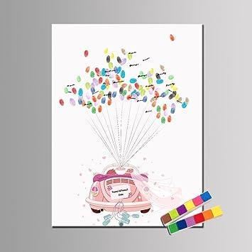 FANGYAO Personalisierte kreative DIY Fingerabdruck Malerei Leinwand ...